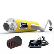 Hmf Performance Full System Exhaust Pipe Yellow + Efi Optimizer + Kandn Ds 450