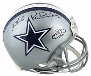 Cowboys Aikman, Smith And Irvin Signed Authentic Proline Full Size Helmet Bas
