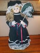 Telco Motion-ette Lighted Animated Christmas Victorian Lady Girl