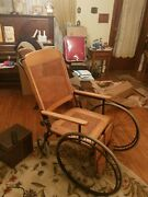 Antique Wooden Wheelchair Pre-world War 2 Email For More Details And Pictures