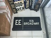 Vintage Ny Nyc Subway Roll Sign Ee Broadway Theater Arts Shows Plays Manhattan