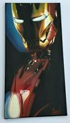 Stan Lee Signed Ironman Pop Art Canvas 12x24 Cargill Painting Proof