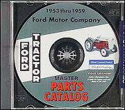 Ford Tractor Parts Book Cd 1953 1954 1955 1956-1959 Naa Jubilee 600 700 800 900