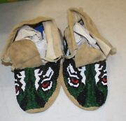 New Native American 10 Leather Beaded Moccasins Free Shipping