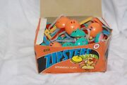 Lot 36 Dime Store Toy Plastic Zip Top Toy 1970s New Fleer Zipsters Spinning Tops