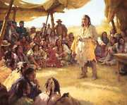 Howard Terpning Paper That Talks Two Ways The Treaty Signing Masterwork Canvas