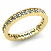 3 Ct Round Cut Diamond Ladies Promise Stackable Eternity Band Ring 14k Gold