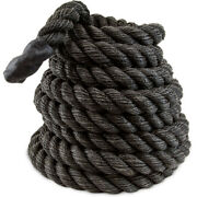 Xl 2.5 Battle Rope, Thick Poly Dac Strength Training Rope + Rubber Grips