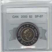 2000knowledge, Coin Mart Graded Canadian, Toonie, Two Dollar, Sp-67