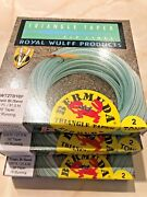 Royal Wulff Bermuda Triangle Taper Saltwater 2 Tone Floating Fly Line Sizes 5-13