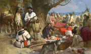 Z.s Liang Trading With The Blackfeet Montana Territory 1860 Le Canvas