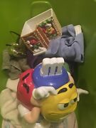 M M Collectibles Lot Lunch Boxes Stuffed Mmscars.gumball Machine Cookie Jars