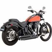 Vance And Hines Big Shots Staggered Black For Harley-davidson Softail 1986-2017
