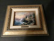 Light Of Peace Canvas Painting By Thomas Kinkade In 12x10 Gold Frame With Coa