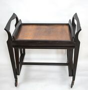 French Modernist Art Deco Rolling Nesting Tables With Tray Gascoin Gabriel