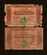 Portuguese India 4 Tangas P19a 1917 Indian Ship Type Ii Rare Money Bill Banknote