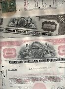 Collection Of 40 Different Rail Road Gas Energy Power Stock Certificate X 3 Sets