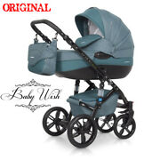 Riko Brano Natural Pram 2in1 3in1 Carrycot+ Pushchair+ Car Seat+isofix+ Extras