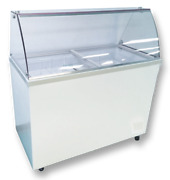 Select 61 Curved Glass Ice Cream Dipping Cabinet Temp Range 7andordmf To -10andordmf 10face