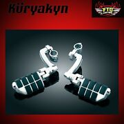 Kuryakyn Chrome Longhorn Offset Pegs Mounts And Magnum Quick Clamps 1 Bar 7980