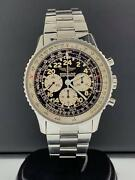 Breitling Navitimer Cosmonaute 41.5mm Stainless Steel 24 Hour Black Dial A12019
