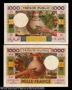 Djibouti French Somaliland 1000 Francs P28 1952 Aunc Currency Money Africa Note