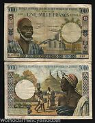 West African States Ivory Coast 5000 Francs P104af Rare Bill Currency Money Note