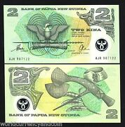 Papua New Guinea 2 Kina P16b Finance Secy.polymer Unc Currency Money Note 10 Pcs