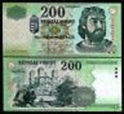 Hungary 200 Forint P187 C 2003 Pre Euro Castle Ruins Unc Currency Money Banknote