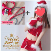 7pcs Lovely Girls Christmas Costumes Reindeer Cosplay Sexy Maid Waitress Uniform