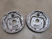 1964-1966 Ford Thunderbird Front Spindle Brake Shoe Backing Plate Set Pair Parts