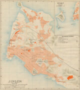 'jinsen [and] Getsubito'. Incheon Antique Town City Plan. South Korea 1913 Map