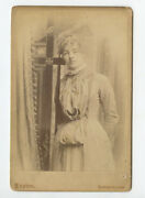 Cab Card Portrait Of Lady From Burlington Ia By Lupton Named Lizzie 16 Yrs