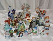 Vintage Lot Of 16 Figurines Made In Occupied Japan Measures 2-5 Inches
