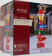 Gemmy Holiday Living Christmas 8 Ft North Pole Sign Airblown Inflatable Nib