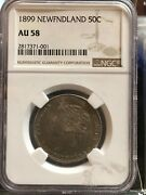 1899 Newfoundland Andcent50 Cent Ngc Graded Au-58