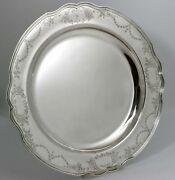 Reed And Barton Hepplewhite Engraved Sterling Silver Platter Tray Exceptional Rare