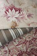Vintage French Fabrics Antique Material Project Bundle Arts And Crafts + Pillow