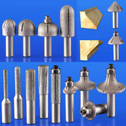 Vacuum Brazed Diamond Router Bits 1/2 Shank Rotary Cutter Grinding Marble Stone