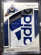 2018 Immaculate Fountain Rookie Sole Laces 1/1 Colts Nfl Football 🏈 Gem Adidas