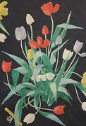Vintage French Designer Curtain Fabric 1950and039s Suzanne Fontan Paris Curtain Drape