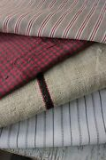 Vintage French Fabrics Antique Material Project Bundle Stripes Check Lovely