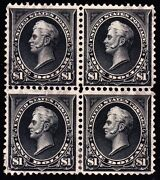 Us 276a 1 Perry Used Scarce Block Of 4 F-vf Appr Scv 1500