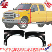 Set Of 2 Fender For Ford F-250 1999-2007 Super Duty 99-04 F-550 Super Duty Front