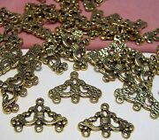 50 Pcsgold Ornate Connector-earring Componentschandelier-findings-3 Loops