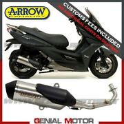 Full Exhaust Kat Arrow Urban Nichrom Black Kymco K-xct 300i 2013 2016
