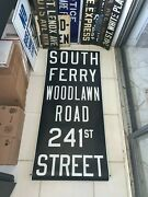Irt Ny Nyc Subway Roll Sign South Ferry Financial District Battery Park Woodlawn