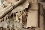 Washed Brown Striped Fabric Vintage Grain Sack Fabric Material 8.1 Yards Brown