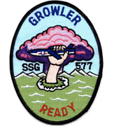 5.125 Uss Ssg-577 Growler Embroidered Patch