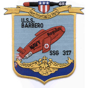 6 Uss Ssg-317 Barbero Embroidered Patch